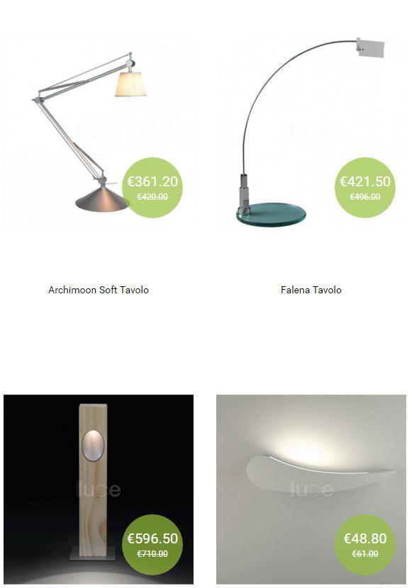 vendita di lampade online